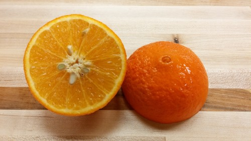 Beautiful deep orange-red Royal Mandarin