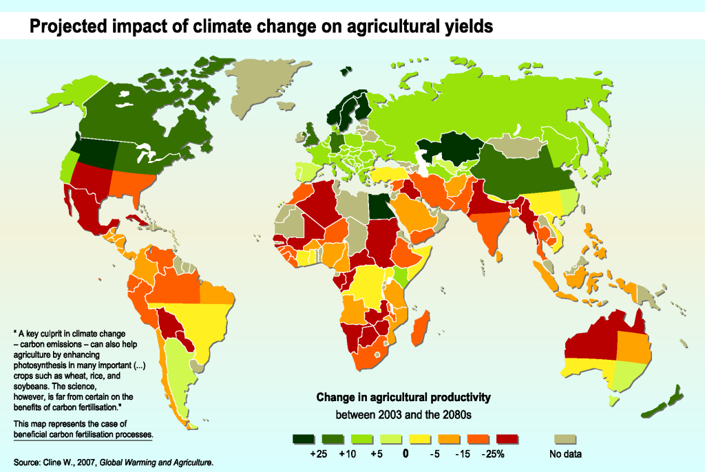 Impact of Climate Change on Agricultural Productivity