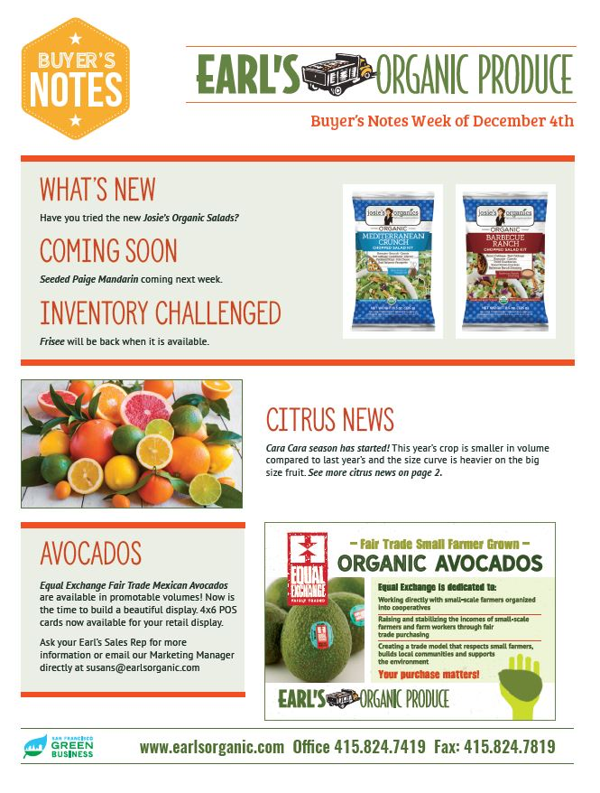 Buyer's Notes December 4 Page 1