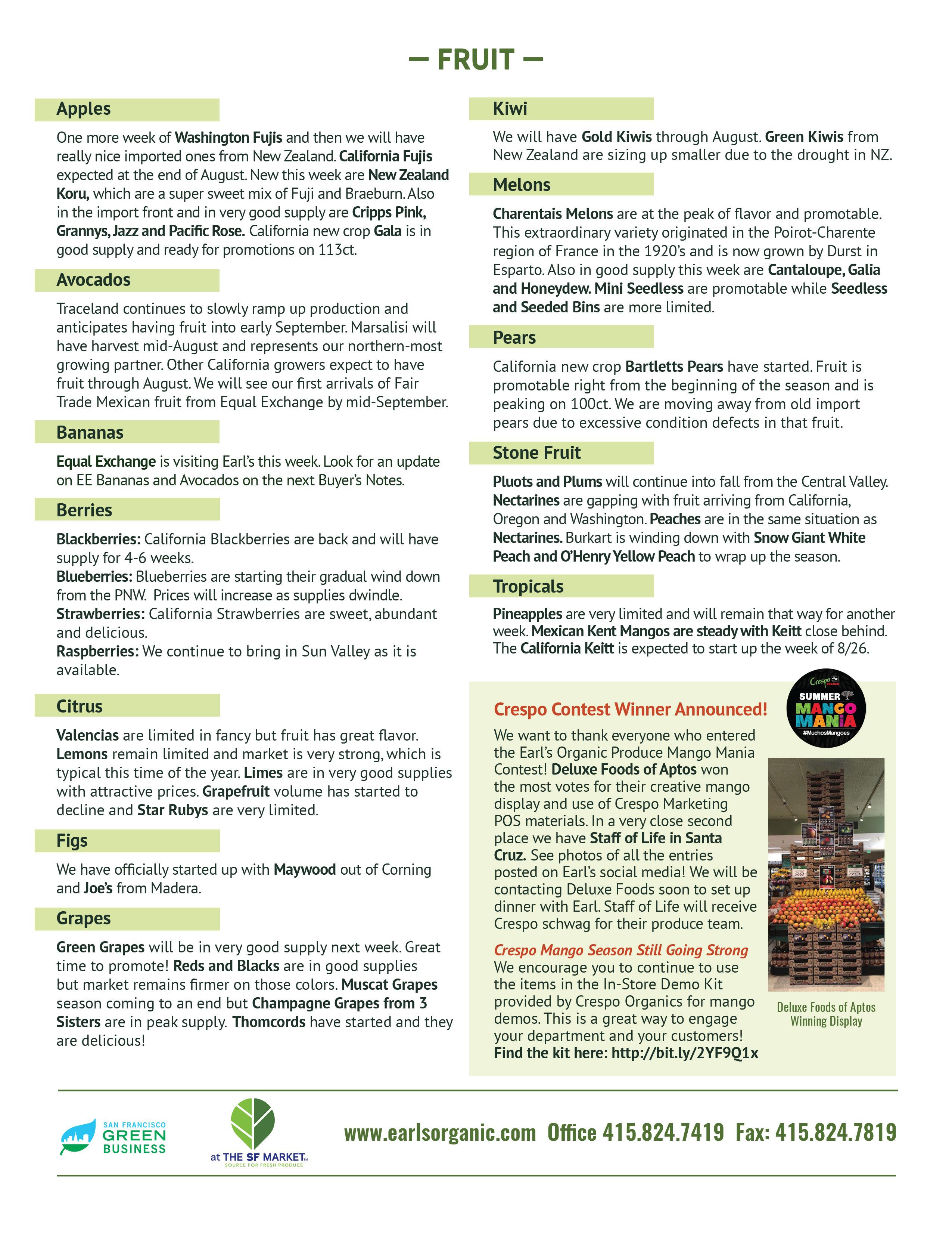 Organic News & Updates « Earl's Organic Produce